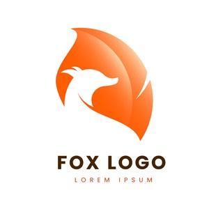 大尾巴狐狸图标网络公司矢量logo设计素材