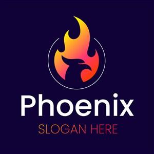 鳳凰火焰圖標科技公司logo