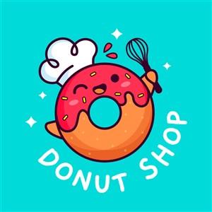 甜甜圈图标甜品店矢量logo