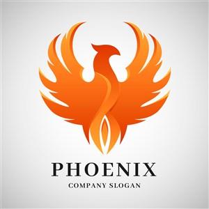 鳳凰圖標傳媒公司矢量logo