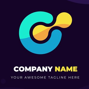 字母C沙漏图标科技公司矢量logo设计素材
