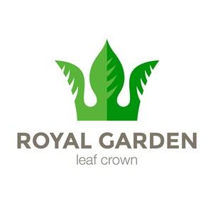绿叶皇冠抽象标志生态自然创意公司矢量logo设计素材