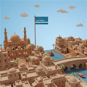 热带城市建筑模型