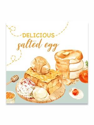 国外创意手绘美食甜品蛋糕banner海报素材