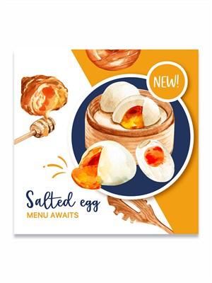 国外创意手绘美食甜点面包banner海报素材