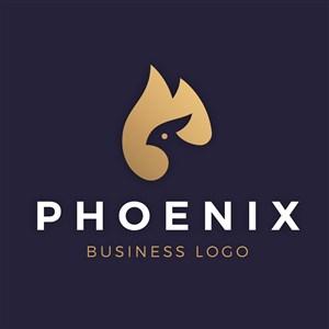 凤凰火焰图标科技公司矢量logo设计素材