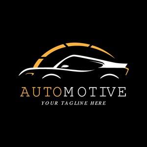 汽车侧面图标汽车品牌矢量logo设计素材