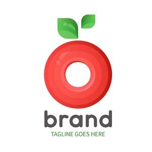 苹果图标水果店矢量logo设计素材