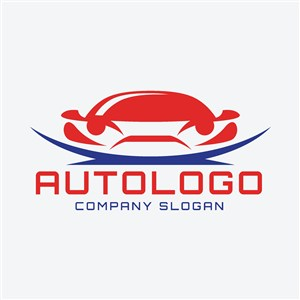 红色汽车图标汽车矢量logo设计素材