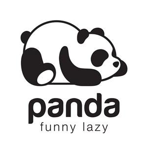 熊猫图标动物园矢量logo