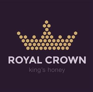 蜂巢皇冠圖標蜂蜜矢量logo設計素材