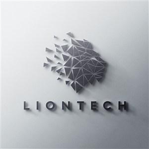 正面3D立体logo贴图样机