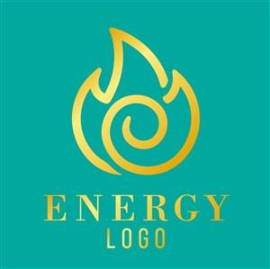 金色抽象火焰图标商务贸易公司矢量logo设计素材