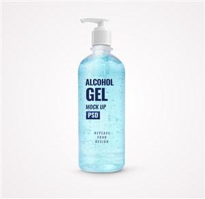 藍色凝膠洗手液貼圖樣機