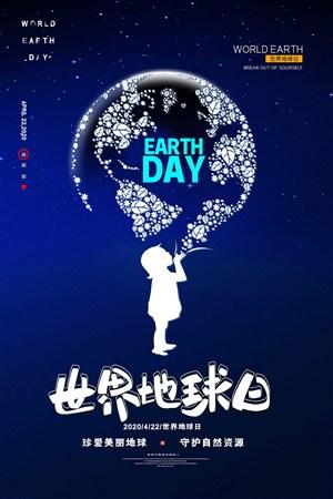 世界地球日珍爱美丽地球创意海报