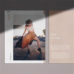 女性时尚品牌vi宣传单贴图样机