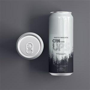500ml罐裝蘇打水啤酒飲料貼圖樣機