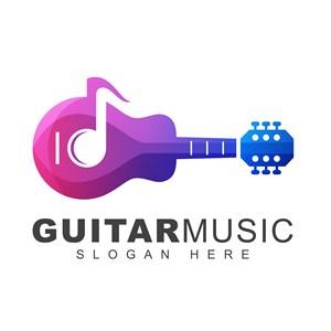 乐器音符标志图标教育培训矢量logo设计素材