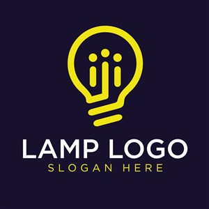 创意灯图标科技公司矢量logo设计素材