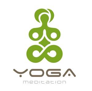 人形图标瑜伽馆矢量logo设计素材