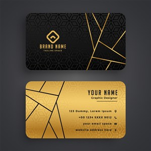 黑色金色商务低调名片设计.zip