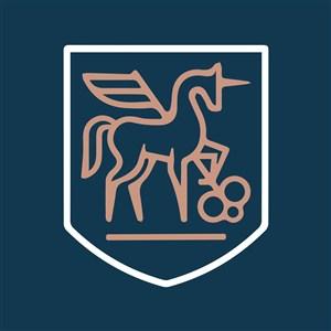 带翅膀的马钥匙标志图标矢量logo设计素材