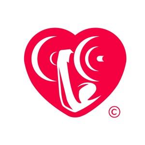 红色爱心标志图标医疗机构矢量logo设计素材