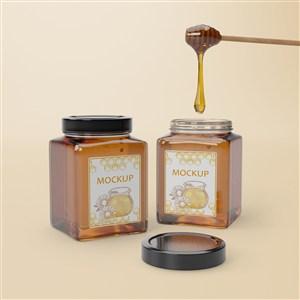 密封方形玻璃瓶蜂蜜包裝貼圖樣機