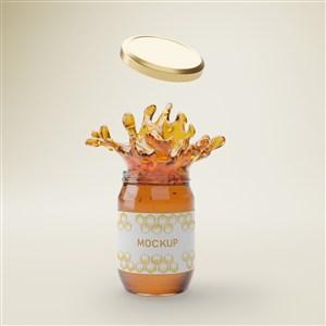 飛濺效果的橢圓形玻璃密封瓶蜂蜜包裝貼圖樣機