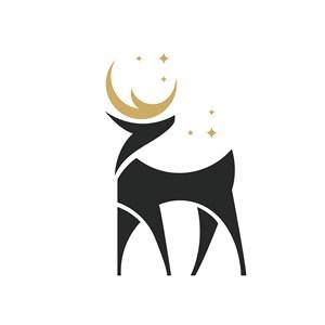 鹿標志圖標酒店旅游矢量logo設計素材