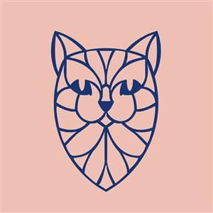 動物標志圖標運動休閑矢量logo素材