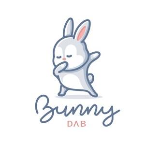 兔子標志圖標兒童服裝品牌矢量logo設計素材