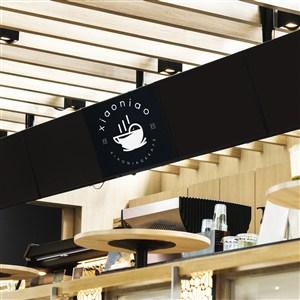 咖啡厅点餐灯箱贴图样机