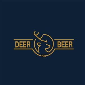 鹿头像标志图标餐饮食品logo设计素材