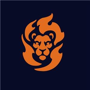 狮子头像标志图标设计传媒矢量logo素材