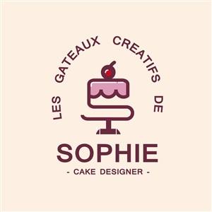 蛋糕标志图标甜品店矢量logo设计素材