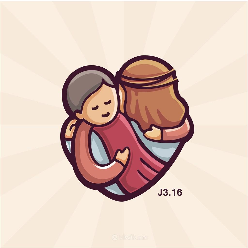 抱着小孩的女人标志图标服饰时尚矢量logo素材