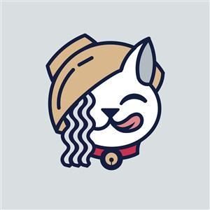 猫碗面条标志图标餐饮食品矢量logo素材