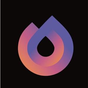 抽象渐变标志图标设计传媒矢量logo素材