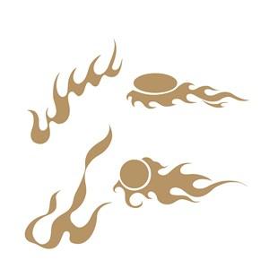 中国风矢量火纹素材