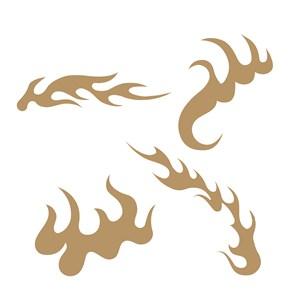 传统中国风火纹图案矢量素材