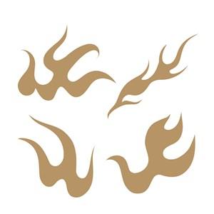抽象火焰图案中国风火纹矢量素材