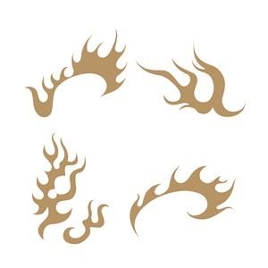 4种中国风火纹图案矢量素材