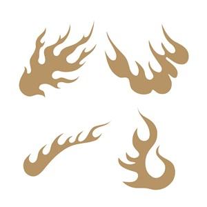 传统中式火纹图案矢量素材