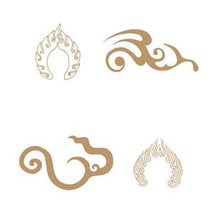 4种经典中国风火纹矢量素材