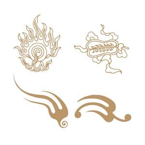 中国传统火纹矢量素材
