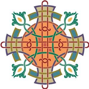 俄罗斯花纹古典花纹矢量花纹素材