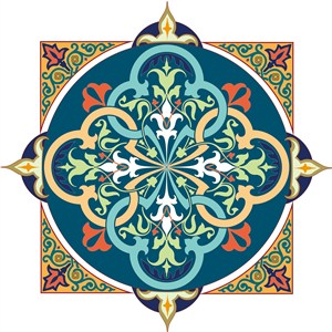 中世纪古典阿拉伯矢量花纹素材