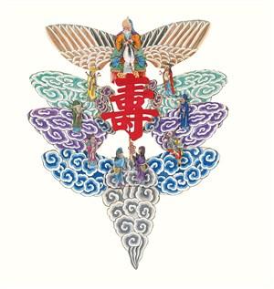 福禄寿中国风风筝纸鸢民俗节日图片
