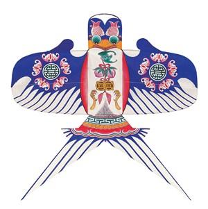 蓝色中国风燕子风筝纸鸢民俗节日图片